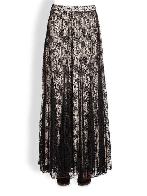 draped maxi skirt louie draped lace maxi skirt in black lyst