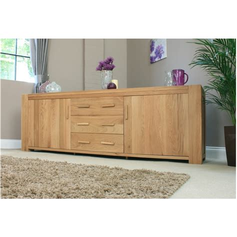 Chunky Oak Sideboard by Atlas Solid Chunky Oak Furniture Large Living Dining Room