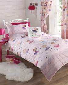 girls pink ballerina bedding duvet quilt cover bed set or curtains single double ebay