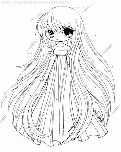 Chibi Coloring Printable Anime