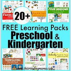 20+ Free Learning Packs For Preschool And Kindergarten