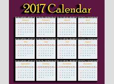 Calendar 2017 templates school paper Free vector in Adobe