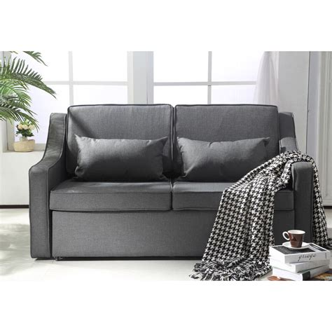 Sofa And Bed by Homcom Sofa Bed Lounger Suede Fabric Living Room