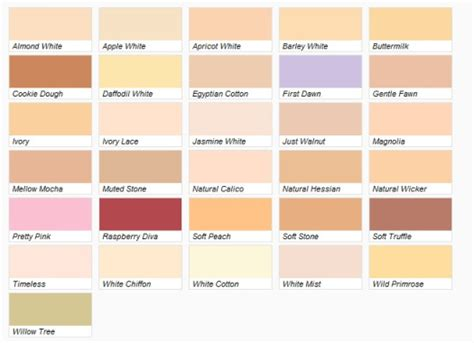 dulux interior paint colour chart home painting