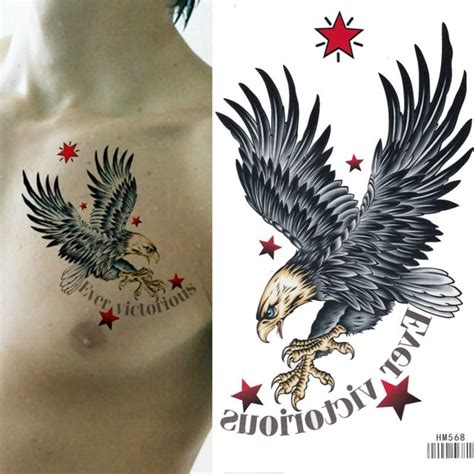 king horse cool bald eagle waterproof xcm arm tattoo sleeve flash temporary tattoo sticker