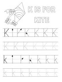 letter k tracing printable alphabet tracing pages activity shelter