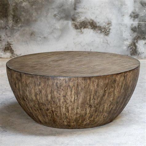 Solid, round coffee table build. Aron Round Wood Coffee Table | Round wood coffee table, Coffee table wood, Drum coffee table