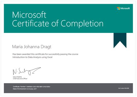 Certificate Programs Free by Microsoft Certificate Of Completion Voucher For