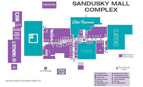 map  sandusky mall map sandusky