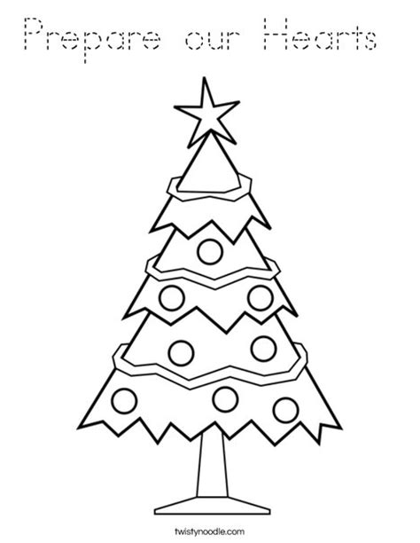 traceable christmas tree prepare our hearts coloring page tracing twisty noodle