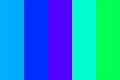 Electric Blue Color Palette