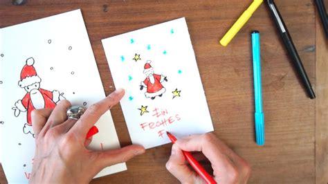 weihnachtskarten zum selber machen weihnachtskarten selbst machen in 3 min tutorial