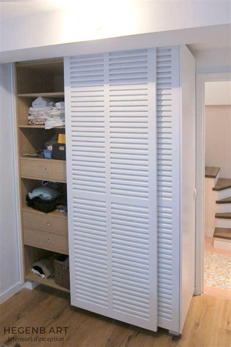 porte placard chambre placard sur mesure contemporain avec porte persienne by