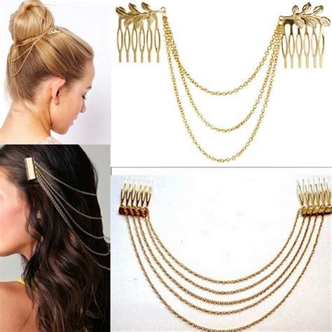comb style hair bands aliexpress buy metal tassel chain headband 6782