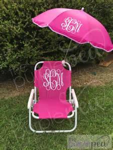 Monogrammed Beach Chair monogrammed kid s beach chair w umbrella monogrammed