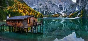 Nature, Landscape, Lake, Mountain, Cabin, Chapel, Forest