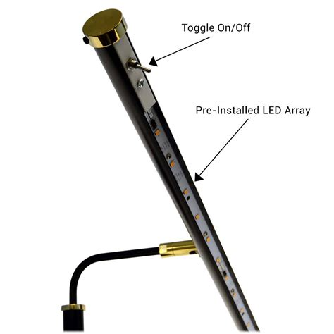 19 quot 4 quot height led piano l black brass accents