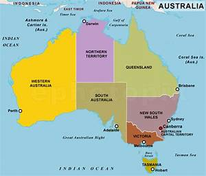 Australia Country Map - TravelsFinders.Com