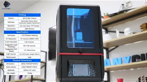 ANYCUBIC Photon---Fully Integrated High Resolution Desktop