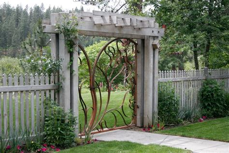gate decoration ideas landscape contemporary with wrought