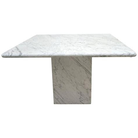 white marble table l mid century modern minimalist italian white carrara marble