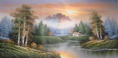 Cheap Vivid Freehand 01 Style Of Bob Ross Painting In Oil