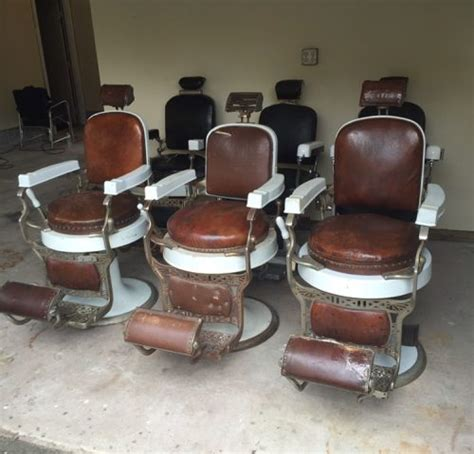 Koken Barber Chair Identification by 3 Antique Koken Barber Chairs