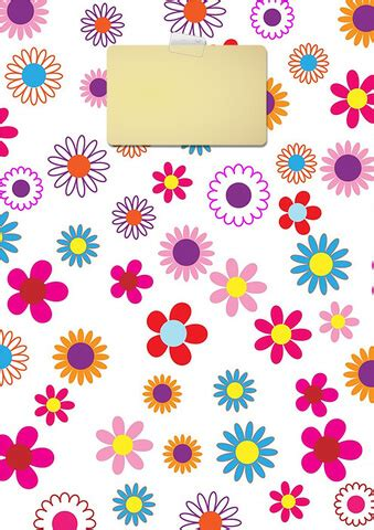 colorful floral binder cover template  printable