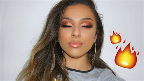 urban decay naked heat palette makeup tutorial youtube