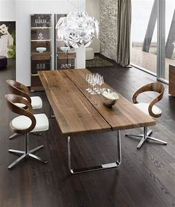 table salle a manger moderne 30 idees originales With idee deco cuisine avec table salle a manger bois massif design
