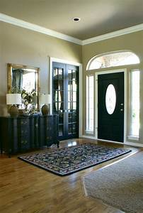 Black front door for simple and attracting applications for Interior trim and door color ideas
