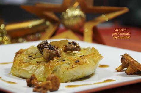 croustade foie gras chataignes  grue de cacao pour une