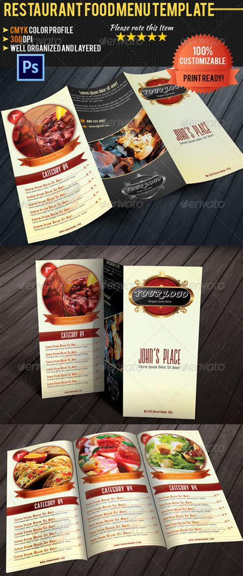 Tri Fold Take Out Menu Template Google Docs Deli by Tri Fold Restaurant Food Menu Template By Pmvch Graphicriver