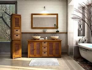 Salle De Bain Teck : achat vente colonne de salle de bain en teck lombok colonne ~ Edinachiropracticcenter.com Idées de Décoration