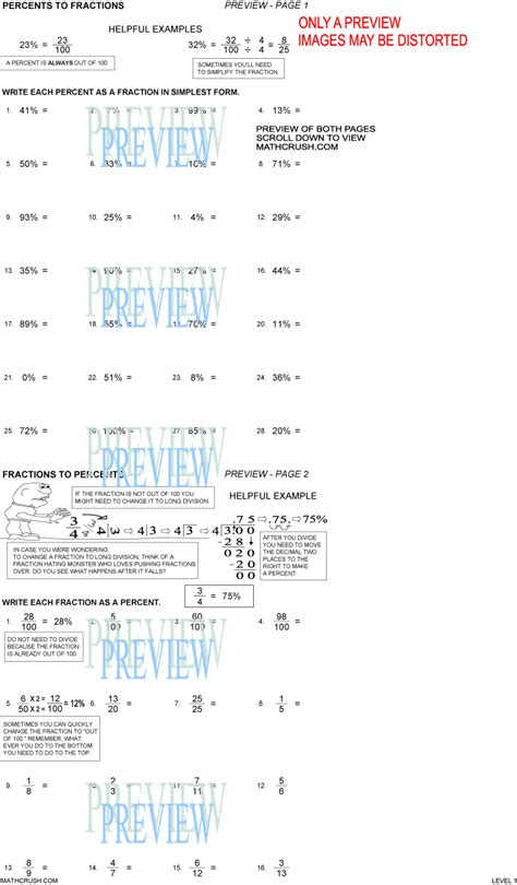 Percent Equation Worksheet Worksheets For All  Download And Share Worksheets  Free On