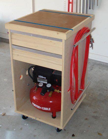 air compressor cart  interesting hose brackets