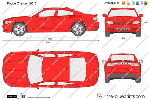 The Blueprints.com   Vector Drawing   Dodge Charger