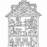 Coloring Pages Haunted Interior Colouring Printable Houses Rooms Google Entitlementtrap Paper Awesome Sheets Colour Johanna Basford Colorings Getcolorings Doll Drawing sketch template