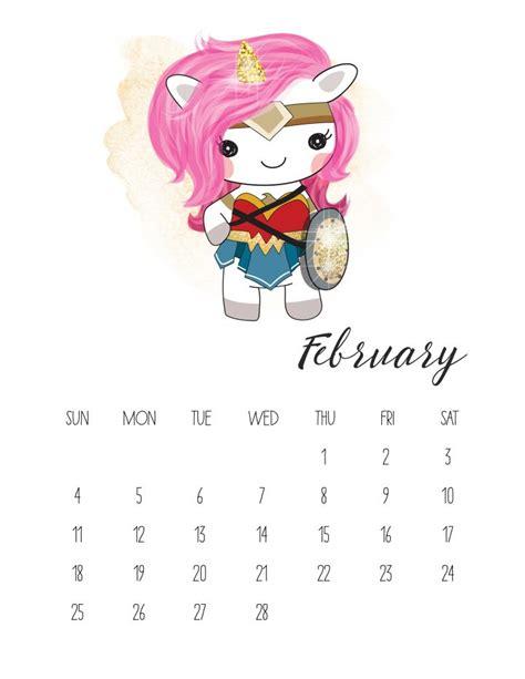 printable pop culture unicorn calendar  cottage
