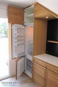 Cuisine Moderne En Bois : cuisine en bois massif sous un escalier hegenbart ~ Preciouscoupons.com Idées de Décoration
