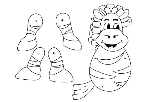 Paper Finger Puppets Templates by Zebra Puppet From Www Anansi Spider Zvierat 225