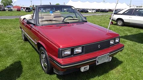1985 renault alliance convertible 1985 renault alliance 1 7l convertible youtube