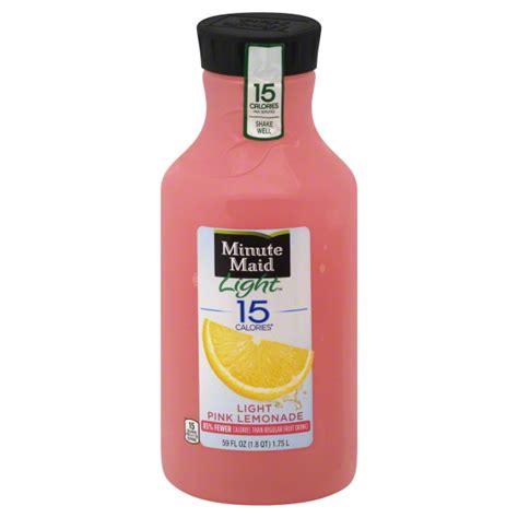 minute light lemonade minute pink lemonade nutrition facts nutrition ftempo