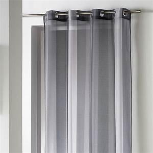 Rideau Gris Anthracite : rideau voilage riviera 140x240cm anthracite gris ~ Teatrodelosmanantiales.com Idées de Décoration