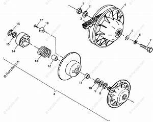 Polaris Atv 1998 Oem Parts Diagram For Driven Clutch