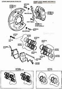 Fj40 Fj55 Fj60 Fj80 Disc Brake Caliper Illustration Diagram