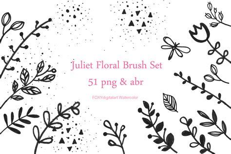 flower doodles floral digital stamp photoshop brush