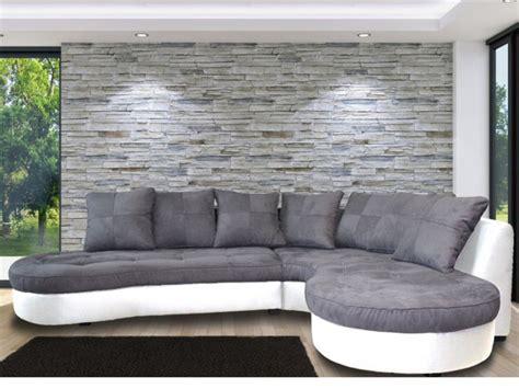canapé d angle gris et noir canapé d 39 angle bimatière et 2 coloris bicolores stephane