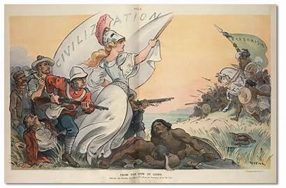 Civilization Burden Barbarism Cartoon Puck Sam Uncle