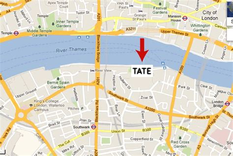 tate modern gallery map pin mixed media journal abstract realism painting on